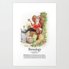 Home Brewing Art Print