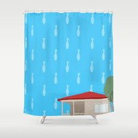 philosophy Shower Curtains featuring Farouk's Philosophy by Kirifruit