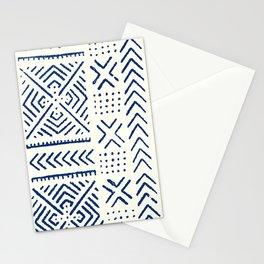 Line Mud Cloth // Ivory & Navy Stationery Cards