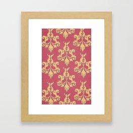 Corner Cafe Wallpaper Framed Art Print