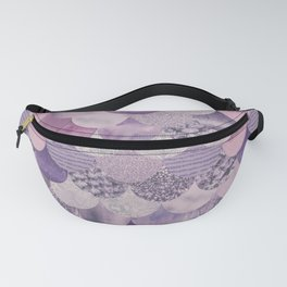 Pale Pink Pastel Glamour Fish Skin Scale Pattern Fanny Pack