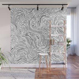 Abstract Digital Black Vector Art Artwork Drawing Painting Illustration (P12 209) Wall Mural
