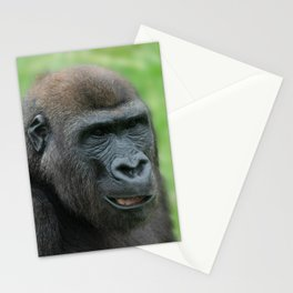 Portrait Of Gorilla Lope Stationery Cards