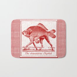 IF FISHES HAD LEGS (red) Bath Mat