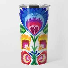 folk flower Travel Mug