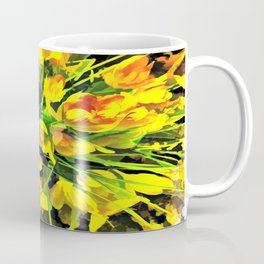 Painterly Yellow Crocuses Coffee Mug