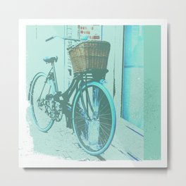 Going to work Dutch style Metal Print