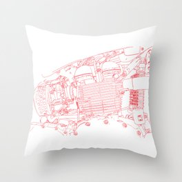 bonney drawing red Throw Pillow
