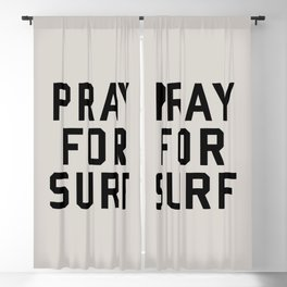 Pray For Surf Blackout Curtain