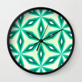Diamonds and flowers Wall Clock