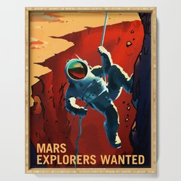 NASA Recruitment Poster Explorers Wanted Serving Tray