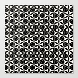 Flower of Life Pattern black-white Canvas Print