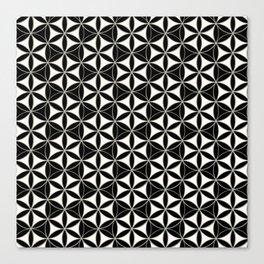 Flower of Life Pattern black-white Canvas Print