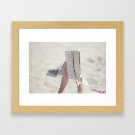 Beach Book Framed Art Print
