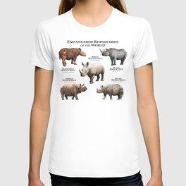 Endangered Rhinoceros of the World T-shirt