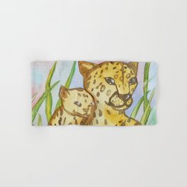 Cheetahs - Mother and a Cub Hand & Bath Towel