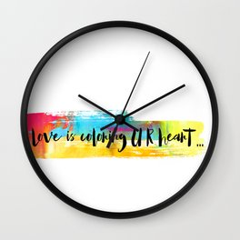 Love is... Wall Clock