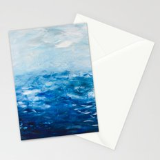 Paint 10 abstract water ocean seascape modern painting dorm room decor affordable stretched canvas Stationery Cards