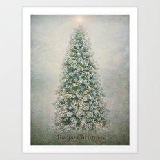 Happy Christmas to everyone on Society6!!! Art Print