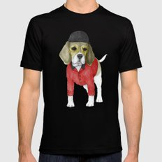 Beagle X-LARGE Black Mens Fitted Tee
