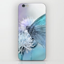 Butterfly blue 71 iPhone Skin