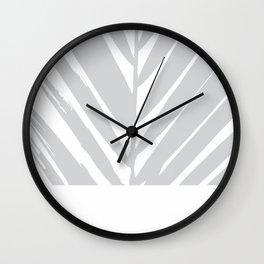 Tropical Grey Palm #society6 #decor #buyart Wall Clock