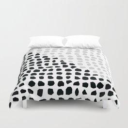 Stones // Black and white 2 Duvet Cover