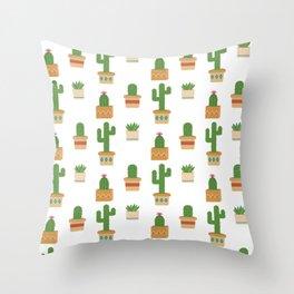 Southwestern Cactus Pattern Throw Pillow