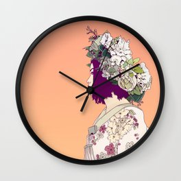 Geisha Under the Sun Wall Clock
