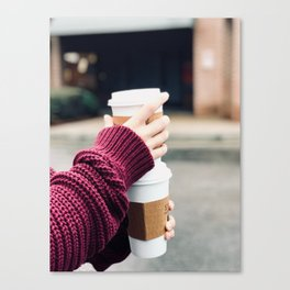 Lattes Canvas Print