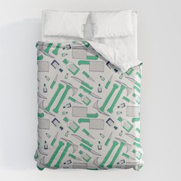 Murder pattern Green Duvet Cover