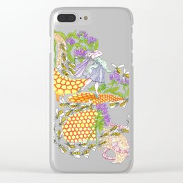 Beebalm Flower Clear iPhone Case