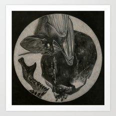 Totenkopf und Fledermaus II Art Print