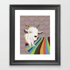 Sweater Goat Framed Art Print