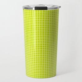 Fresh Lime Grid Travel Mug
