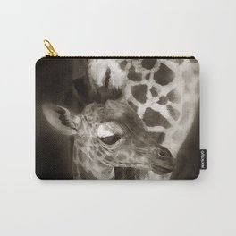Baby Giraffe and Mother Carry-All Pouch