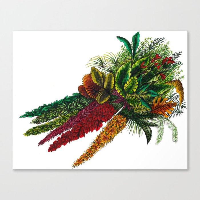 Tropical Carrots Canvas Print