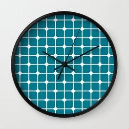 Modern Cubes - Teal Wall Clock