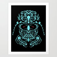 darth Art Prints featuring Darth James Darth by Quakerninja