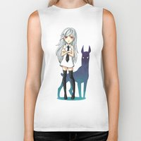 doberman Biker Tanks featuring Doberman by Freeminds