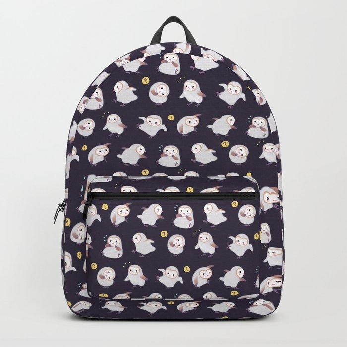 Baby Barn Owls - dark Backpack