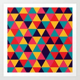 Colorful Triangles (Bright Colors) Art Print