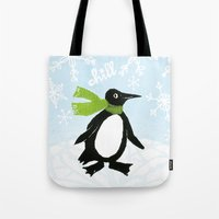 chill Tote Bags featuring Chill by MollyBroadley