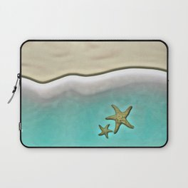 SANDY BEACH & STARFISH Laptop Sleeve
