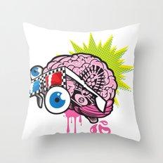 BRAIN-D! Throw Pillow