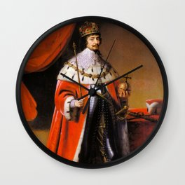 Gothic royal portrait Wall Clock