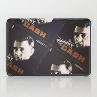 johnny cash iPad Cases featuring Johnny Cash Stamps by ADH Graphic Design