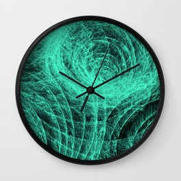 Aqua Compex Pattern Wall Clock