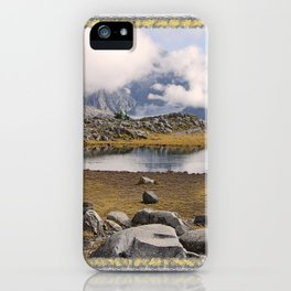 BLUE AND GOLD MOUNTAIN SOLITUDE iPhone Case