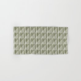 Simple Geometric Pattern 2 in Sage Green Hand & Bath Towel